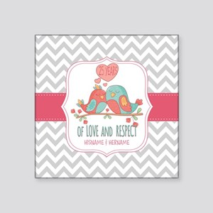 "Create Personalized Anniver Square Sticker 3"" x 3"""